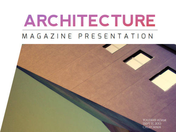 Architecture magazine powerpoint presentation design and architecture magazine powerpoint templates features free awesome fonts used no photoshop required iconic fonts over 100 fully edita by warna works toneelgroepblik Image collections