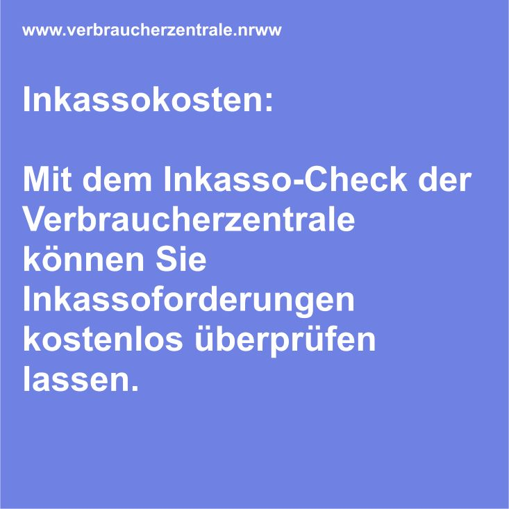 Verbraucherzentrale Inkasso Check