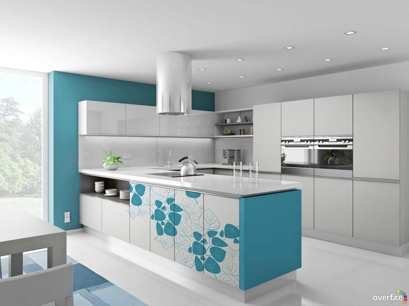 Kuckó Design: Modern konyhák színesben - zöldek, kékek, pirosak ...