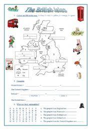 English worksheet the british isles a map emblems nationalities english worksheet the british isles a map emblems nationalities flags ibookread ePUb