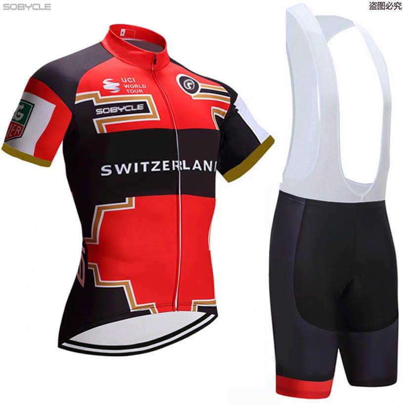 World Jerseys Men/'s Switzerland Cycling Jersey