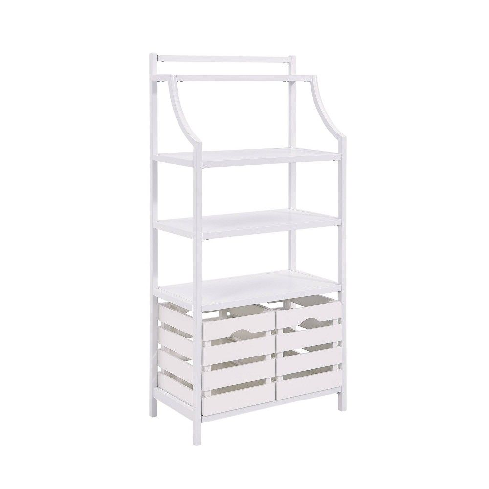 Sargrave Bakers Rack With Storage White Aiden Lane Bakers Rack