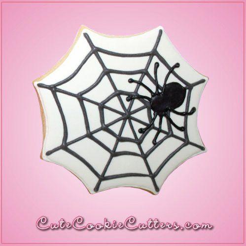 Pink Spider Web Cookie Cutter