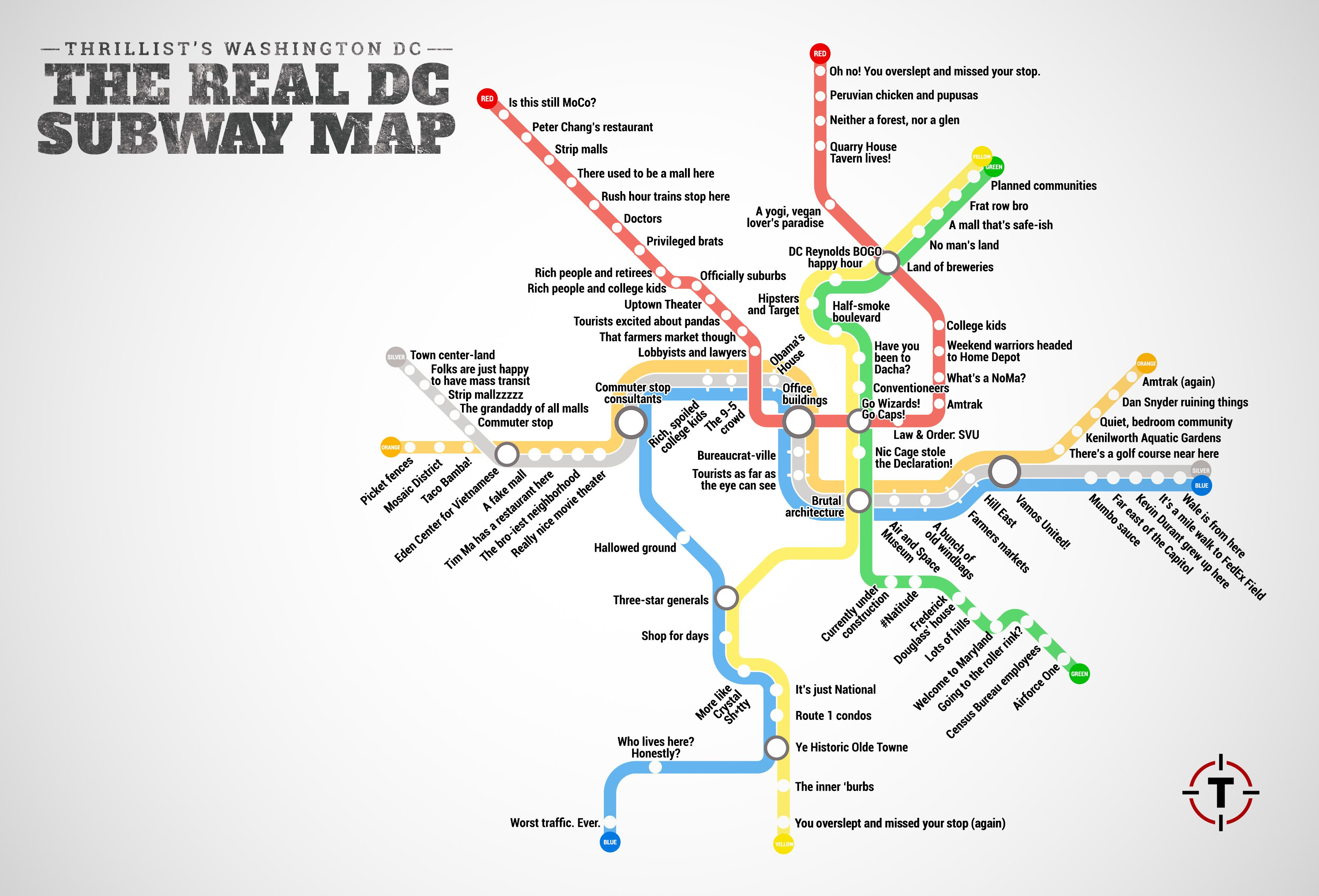 Thrillist Just Created The Most Accurate D C Metro Map