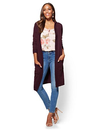 Shop Hooded Duster Cardigan. Find your perfect size online at the ...