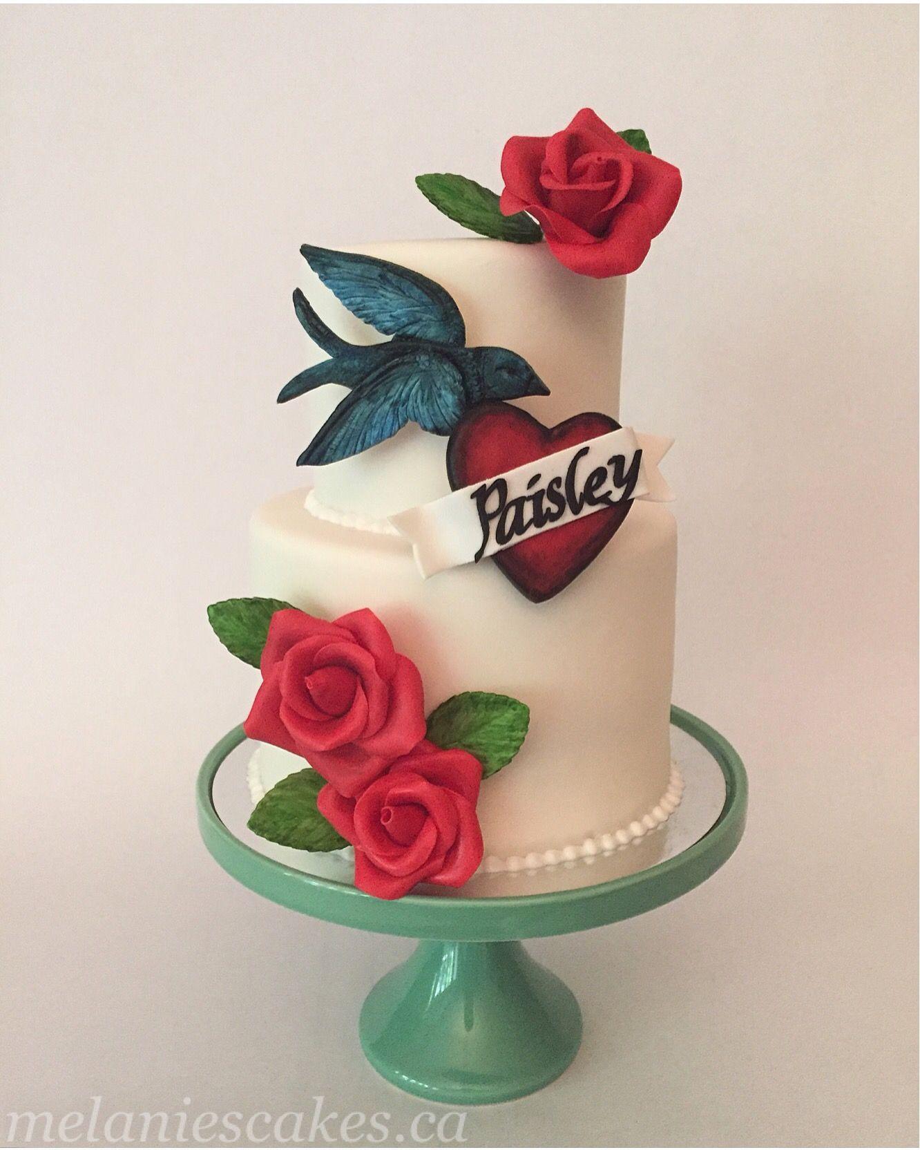 Rockabilly Wedding Ideas: Rockabilly Tattoo Birthday Cake, Wedding Cake Or Shower