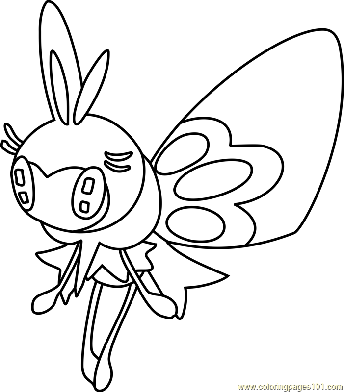 Ribombee Pokemon Sun And Moon Coloring Page Moon Coloring Pages Coloring Pages Pokemon Coloring