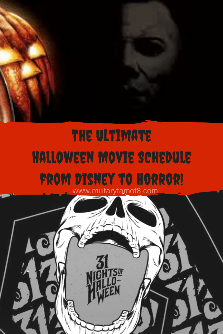 the ultimate halloween movie schedule from disney to horror