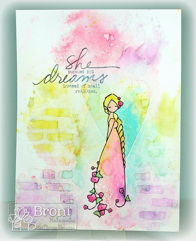 Splashes Of Watercolor Watercolor Flowers Card Making Designs
