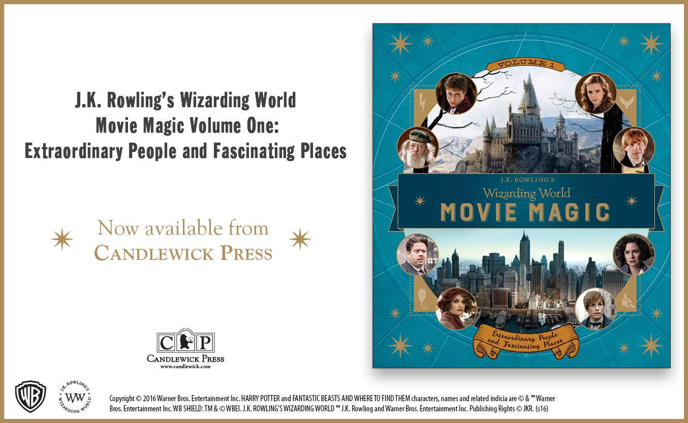 J.K. Rowling's Wizarding World: Movie Magic Volume One: Extraordinary People and Fascinating Places #wizardingworld #fantasticbeasts