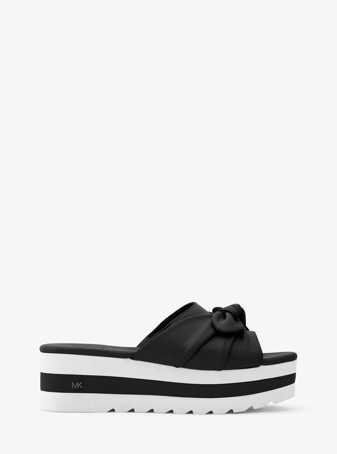 9b4b4d5491 New Arrival #womensfashion #affiliate #michaelmichaelkors #sandals ~ MICHAEL  Michael Kors Pippa Leather Platform Slide ~ Shoes Section