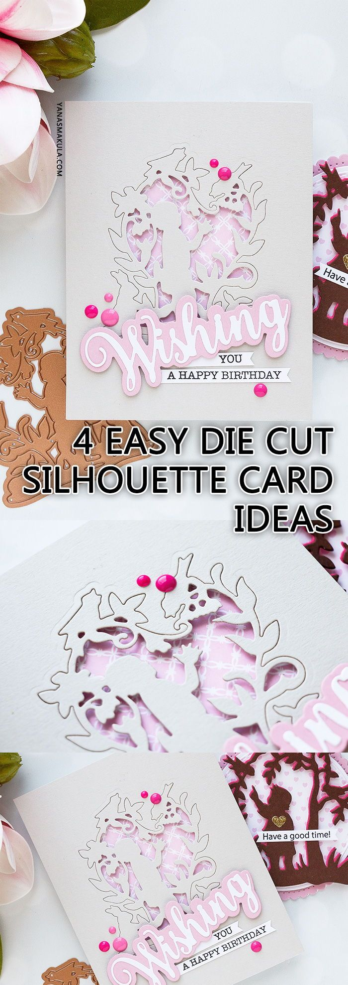 Easy handmade silhouette card ideas to try today die cutting ideas