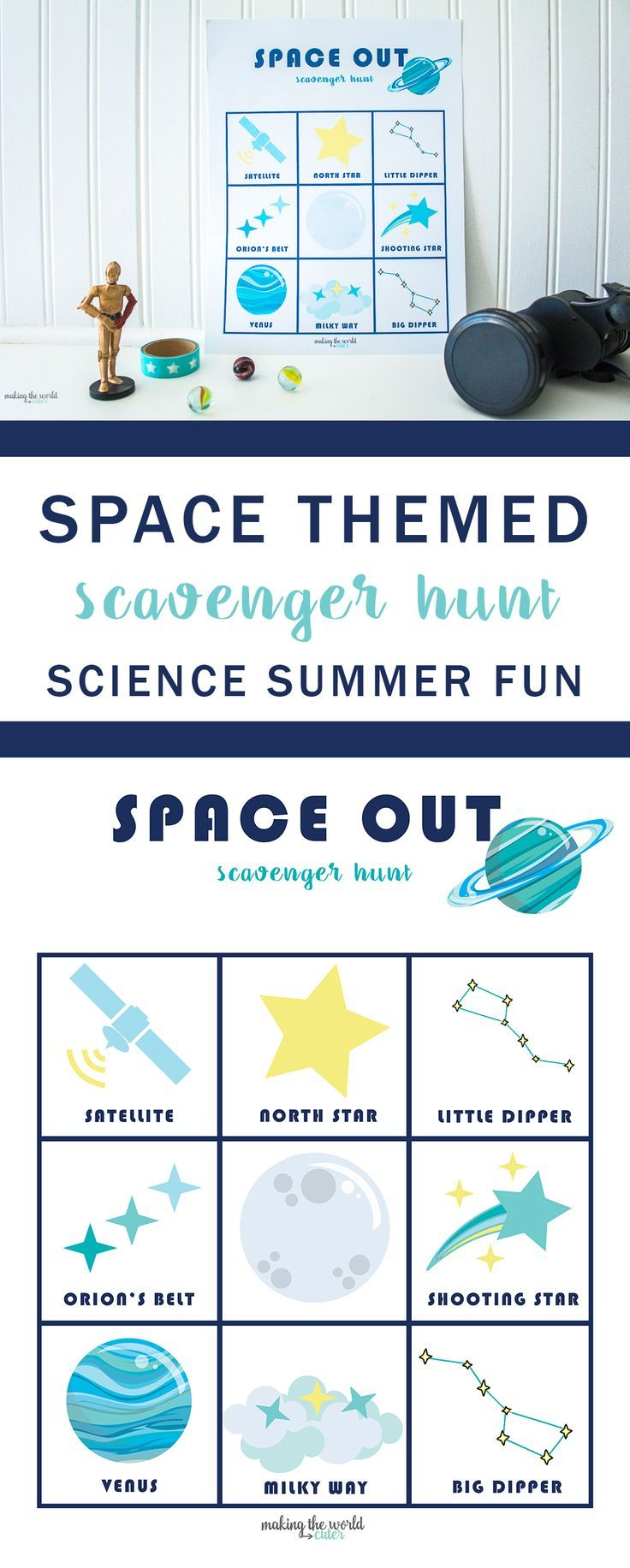 Best Diy Crafts Ideas For Your Home Space Themed Scavenger Hunt ...