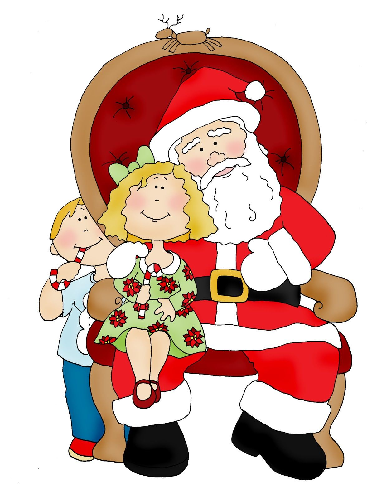 Christmas In July Santa Clipart.Free Dearie Dolls Digi Stamps Christmas In July Visiting