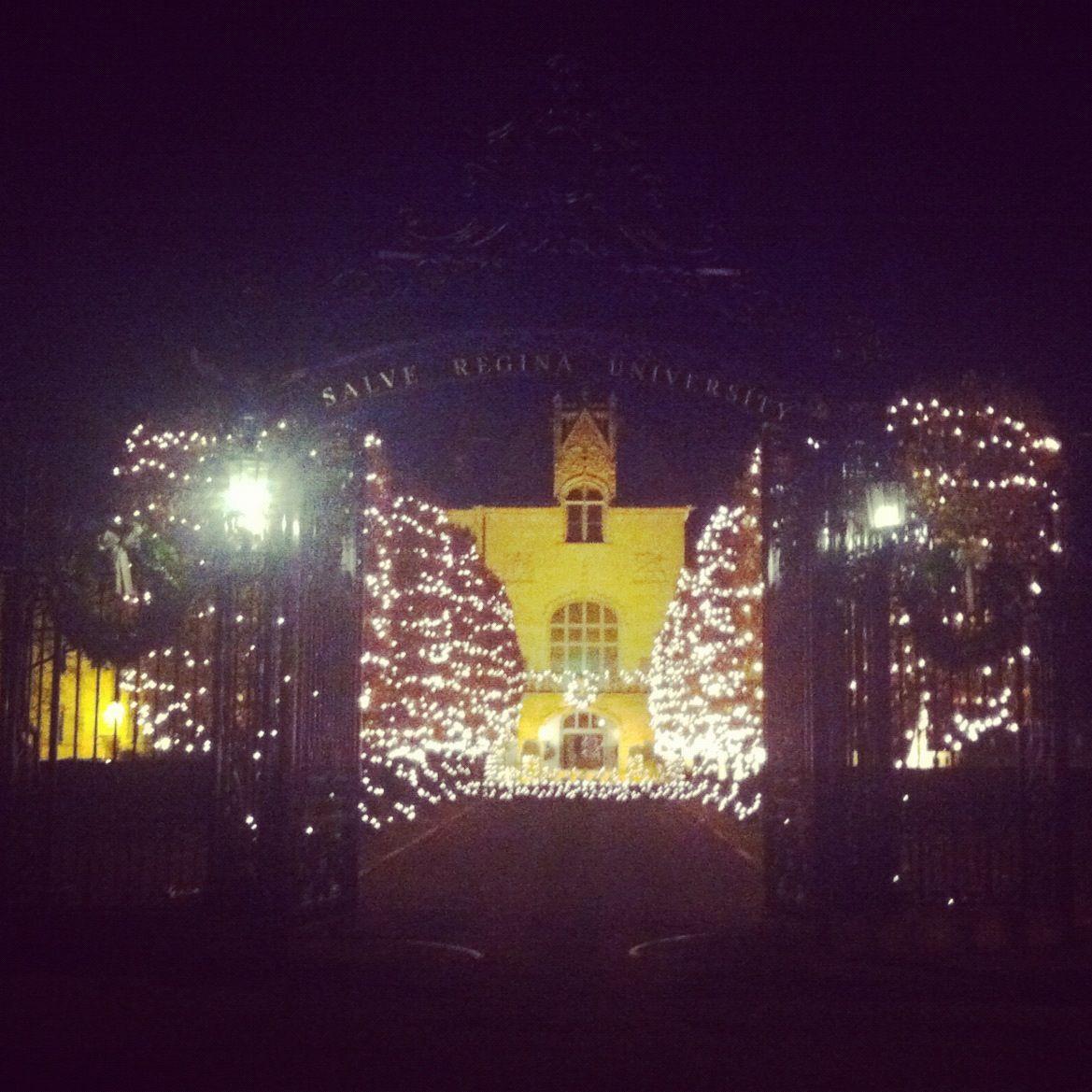 Best Christmas Decorations Long Island: Ochre Court At Salve Regina University During Christmas