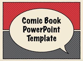 Free comic book presentation templates for keynote or for Comic book template powerpoint