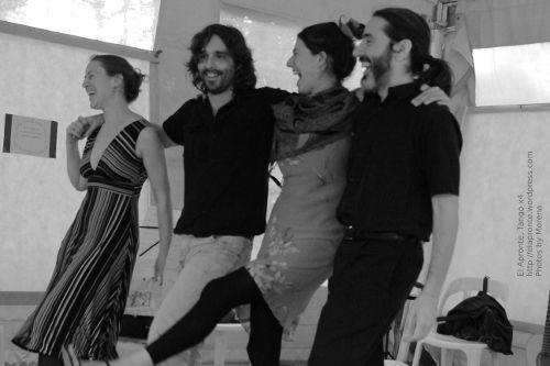 5a Feria del Libro de Río Ceballos, presentación del libro Historias que nos Siembran, de Lilah Ríos.  Bueno, también somos un poco descarriaos a la hora de saludar, che...