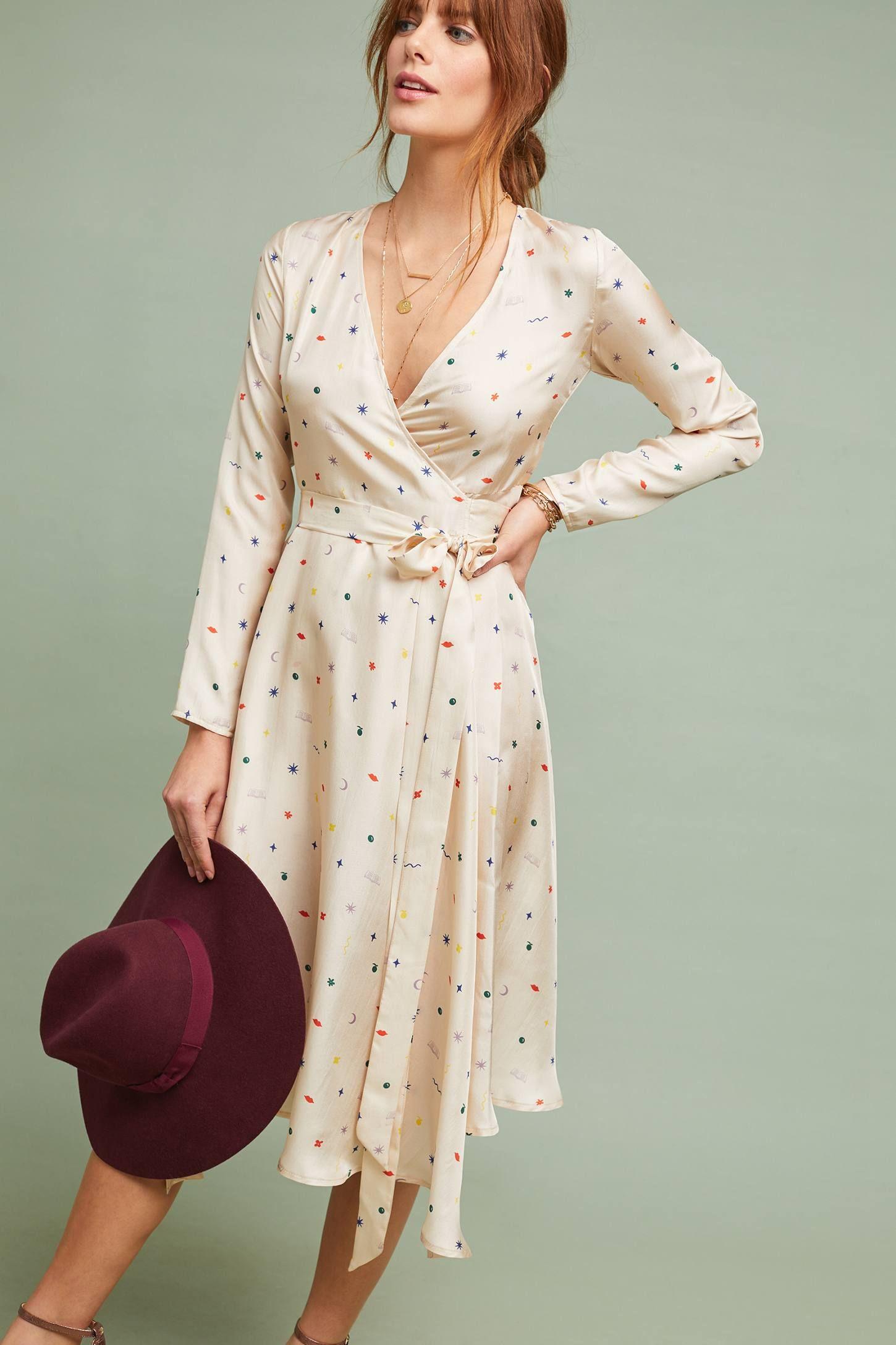 Minimalist Dress Vintage style dress Rachel Wrap Dress Silk Wrap Dress
