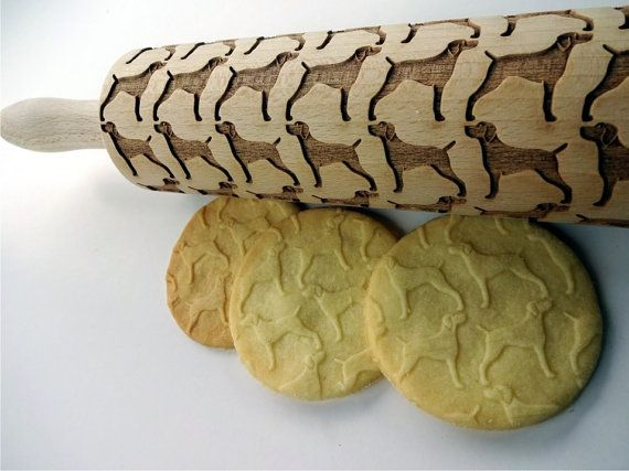 Engraved rolling pin with Cat Paws for embossed cookies or pasta PUSSY CAT Embossing Rolling Pin Kitty Dough roller with animals Cats