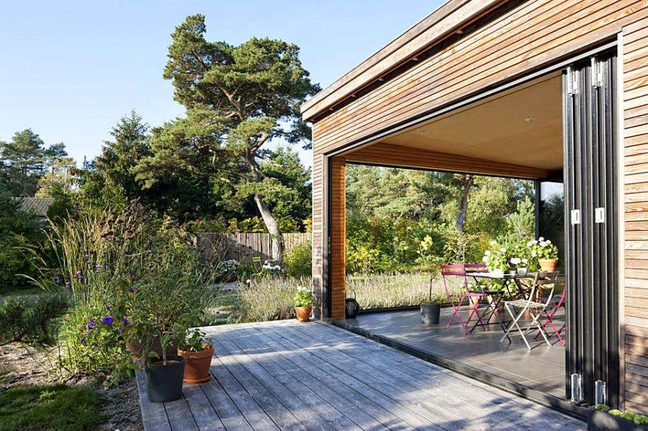 wintergarten mit schiebefenster im sommer Terrasse Porch - wintergarten als wohnzimmer