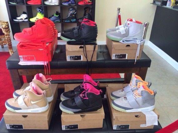 69afa6ff31e Complete Nike Air Yeezy 1 2 Set Dope Designer Footwear Sneakers Kanye West