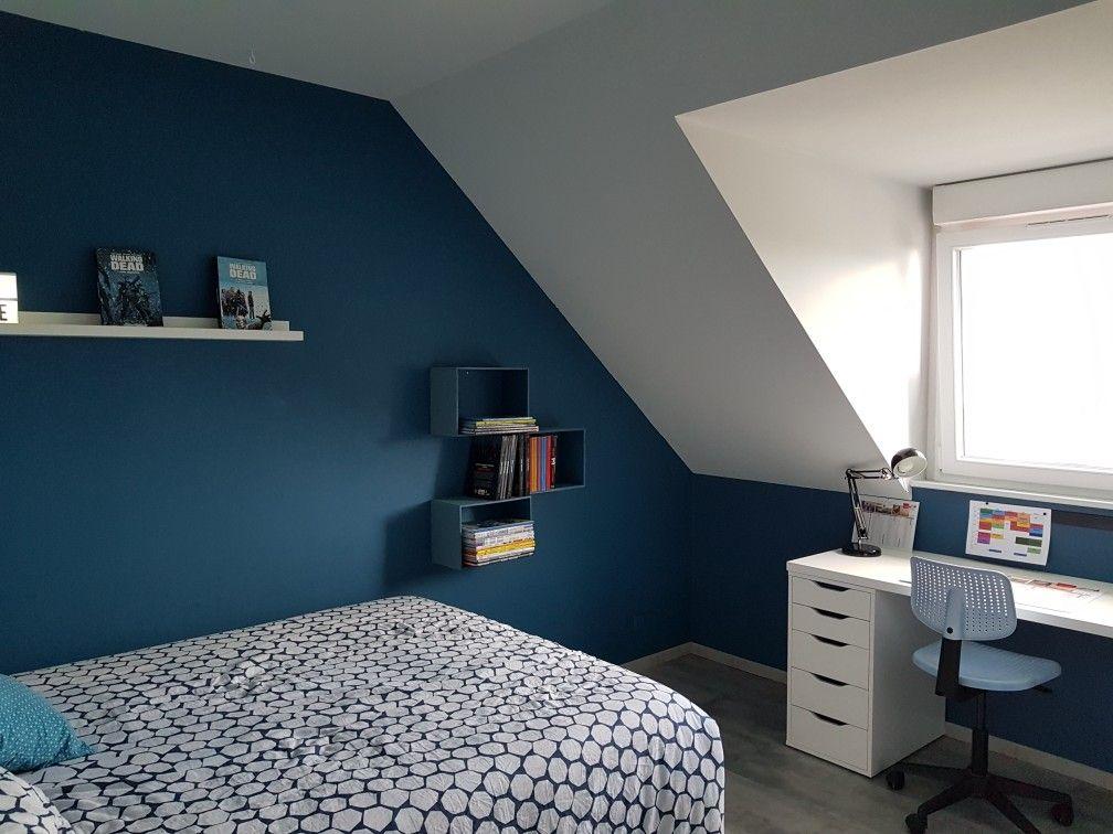 Chambre Ado Garcon Bleu Paon Deco Chambre Mansardee Chambre Ado Mansardee Couleur Chambre Ado