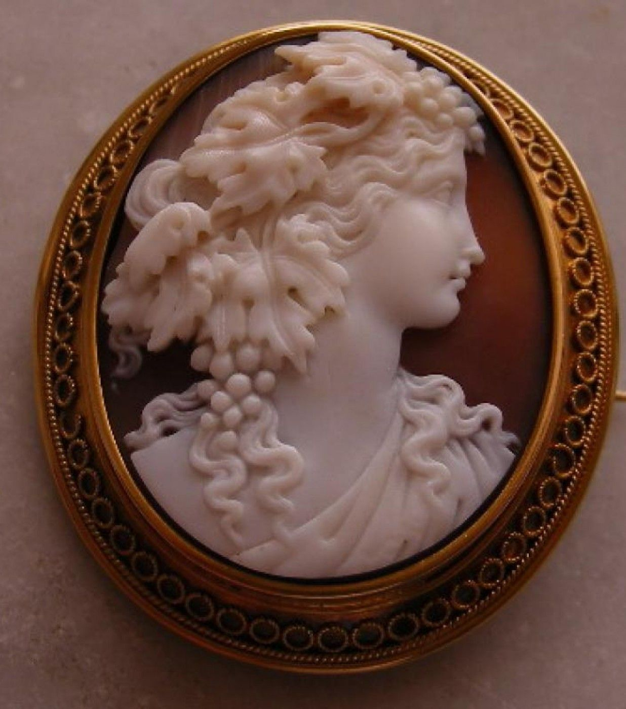 Antique Cameos - Cameo - old victorian, shell, coral and