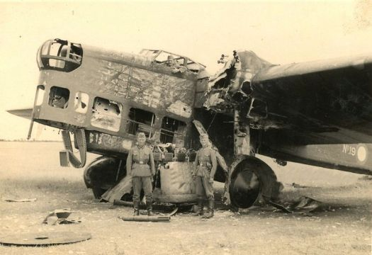 A Strafed Amiot 143 on an Airfield #Amiot143 #Amiot #aeroplane #aircraft #airplane #bomber #French #WorldWar2 #archaic #prehistoric #ArméedelAir #strafed #destroyed #Frenchairforce