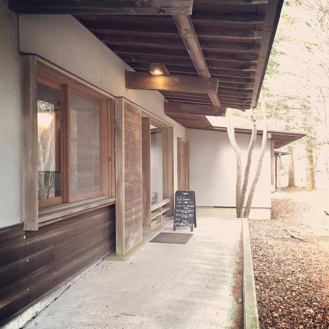 朝から建物探訪! eloisecafe エロイーズカフェ 軽井沢 吉村