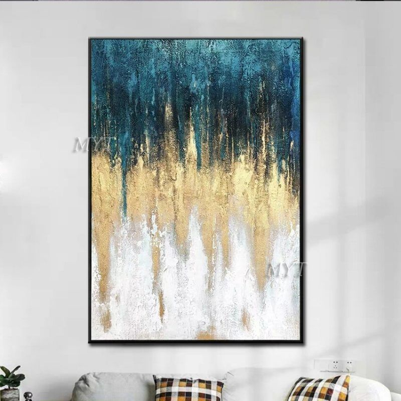 100 Hand Painted Oil Painting On Canvas New Abstract Gold Painting Living Room Dining Room Wall Art Frameless Painting Oil Painting On Canvas Dining Room Wall Art Canvas Painting #oil #painting #living #room