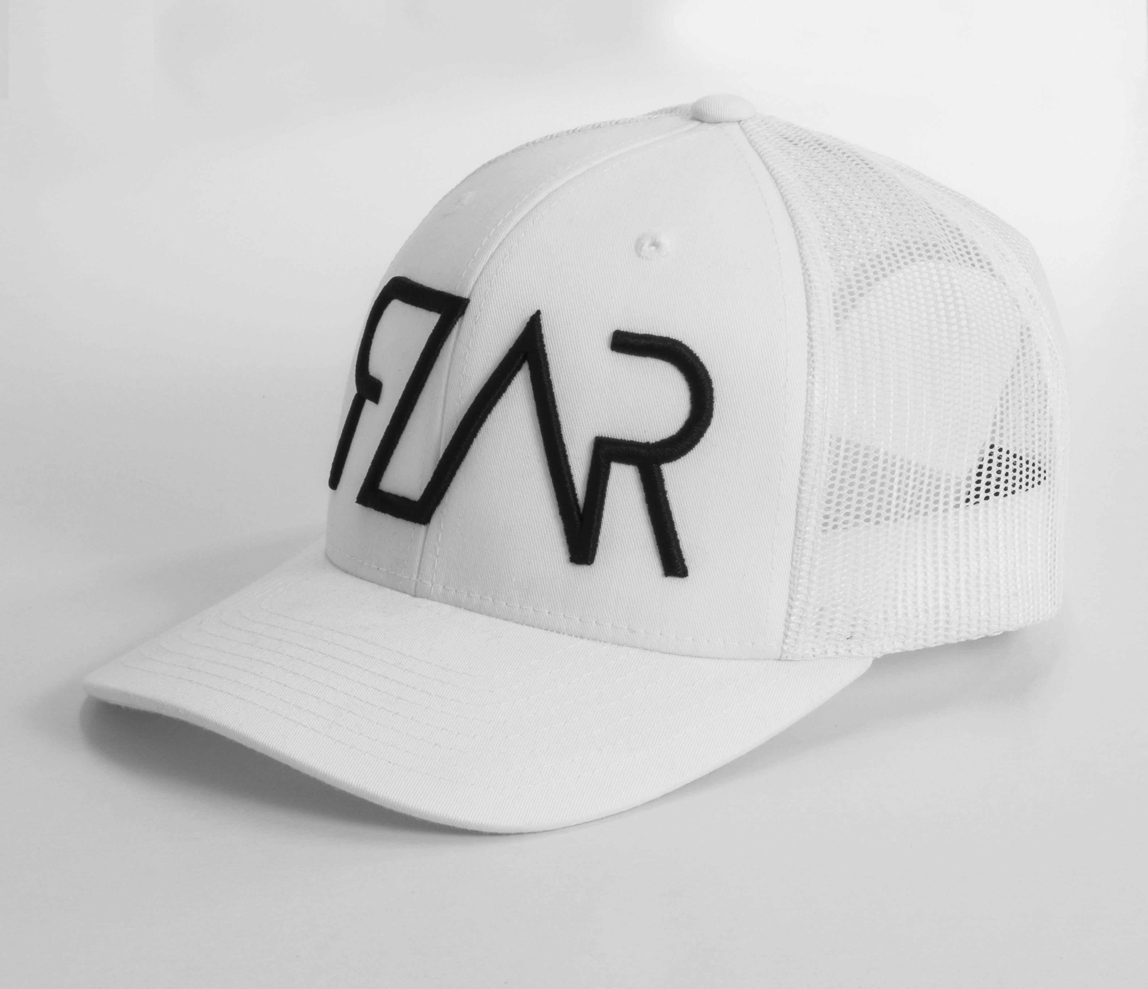 Fresh new Trucker style caps by Rzar Apparel ~White ~Snap back ~Black RZAR 7e4ec2a08066