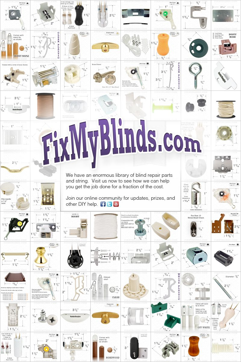 Do it yourself blind repair and home window covering repair fix my do it yourself blind repair and home window covering repair fix my blinds has an enormous library of blinds parts solutioingenieria Gallery