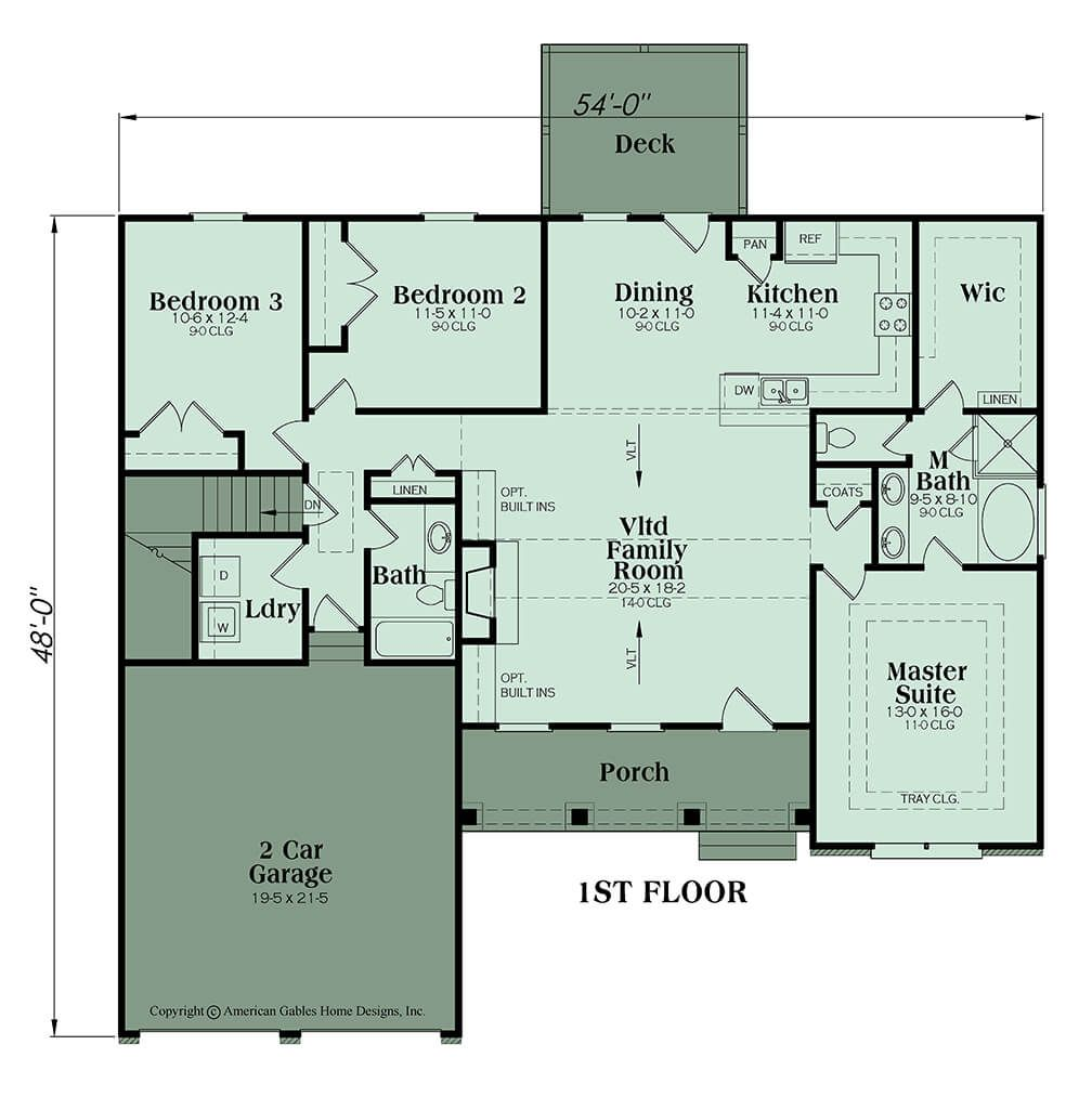 This 3 X2f 2 Ranch House Plan Features An Open Concept Layout And Split Bedroom Plan There Is An Unfinished Basement Opti House Plans Floor Plans Ranch House