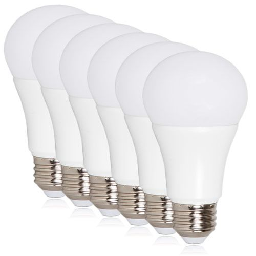 In This 6 Pack Each Daylight A19 Led Light Bulb Gives Off 800 Lumens And Only Consumes 10 Watts Of Energy Compar Led Light Bulb White Light Bulbs Light Bulb