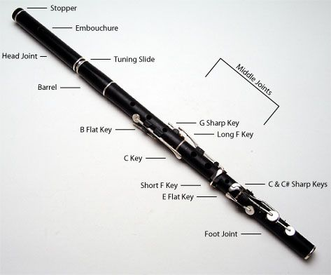 1c1099baed27a34f4c226a91f63fbf56 parts of a flute flute diagram flute diagram music wind