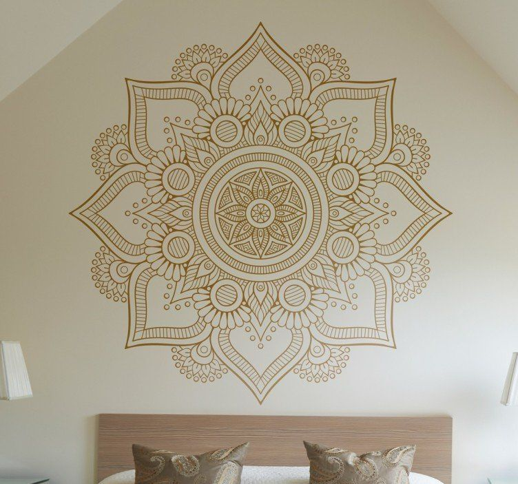 Vinilos mandala florales diy decoracion paredes for Vinilos pared mandalas