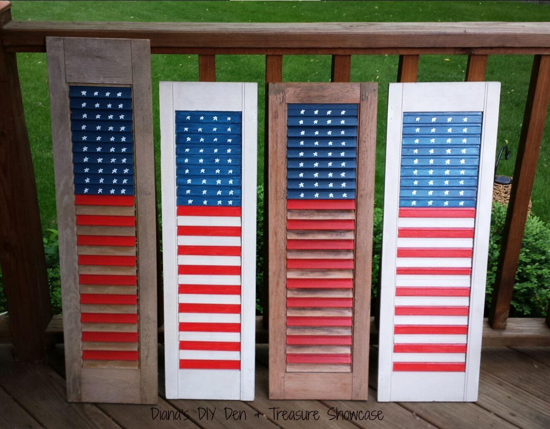 Easy Shutter Diy Flag Diy Shutters Diy Door Old Shutters