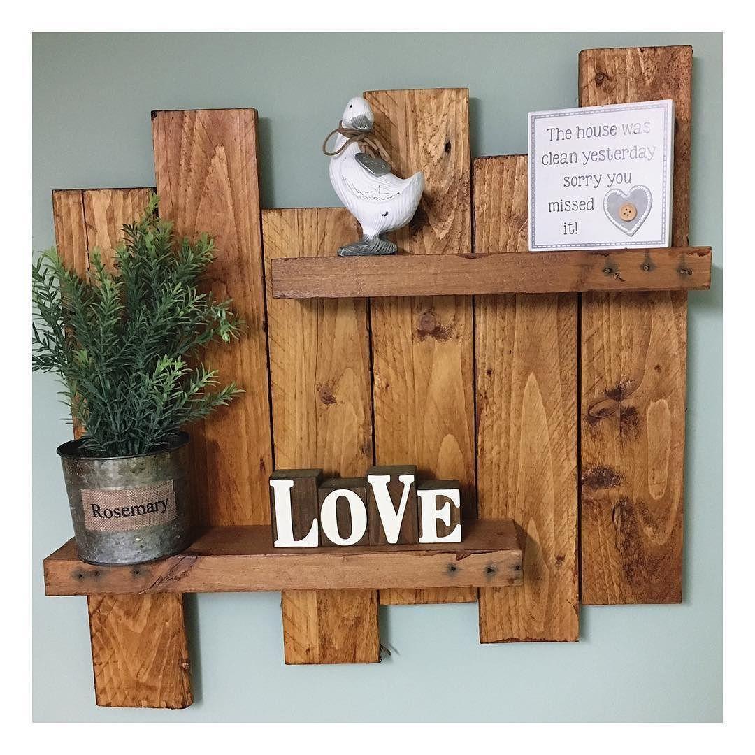 Reclaimed Wooden Pallet Shelf. Different Designs/colours