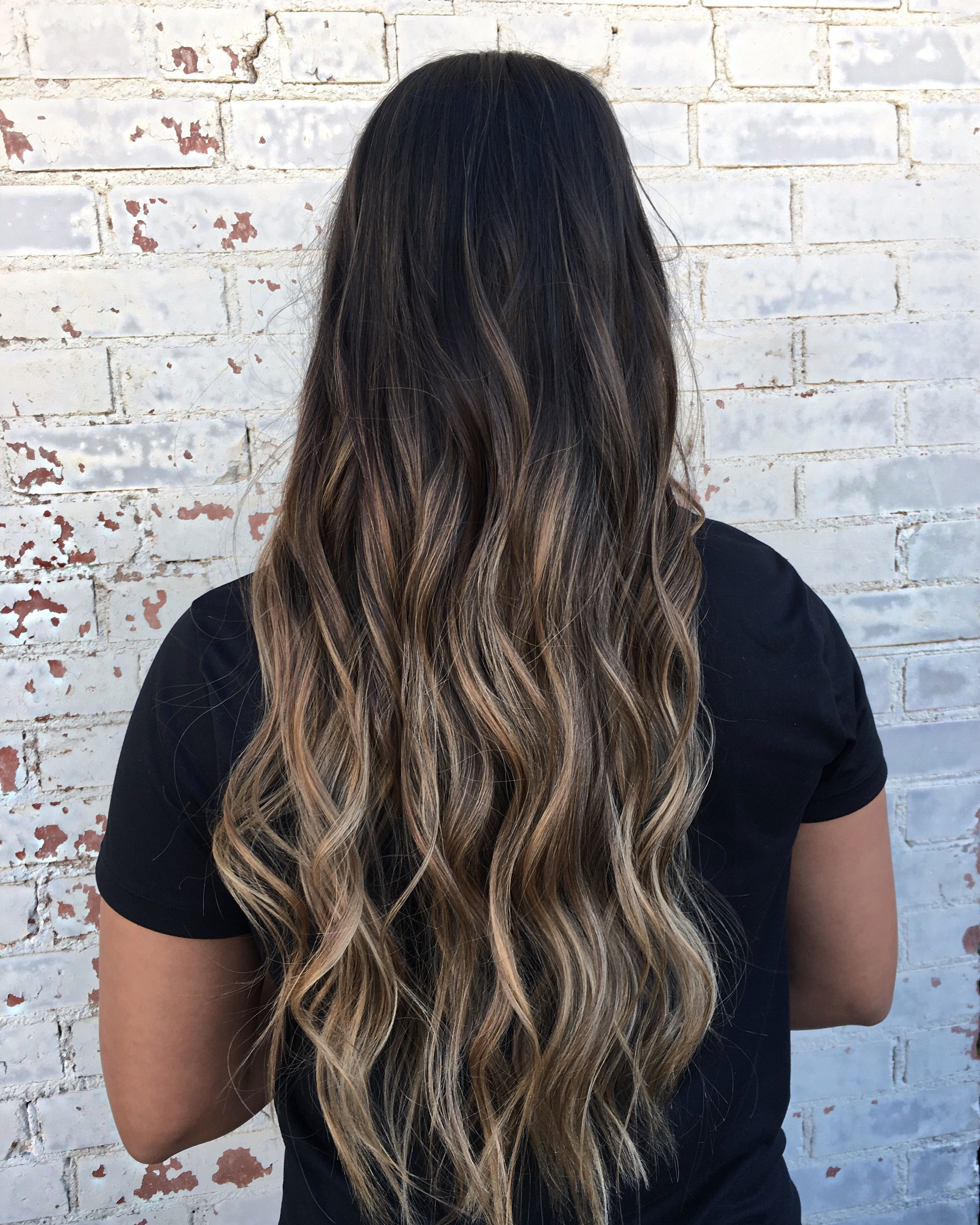 Dark Hair Brown Hair Blonde Highlights Balayage Ombre Long
