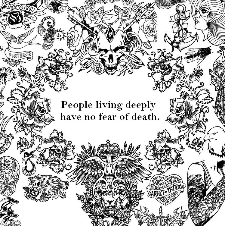 Free Printable Difficult Grown Up Coloring Pages Zen Quotes Creative Leisure Activities Beautiful Drawings People Living Deeplybr Have No Fear Of Death