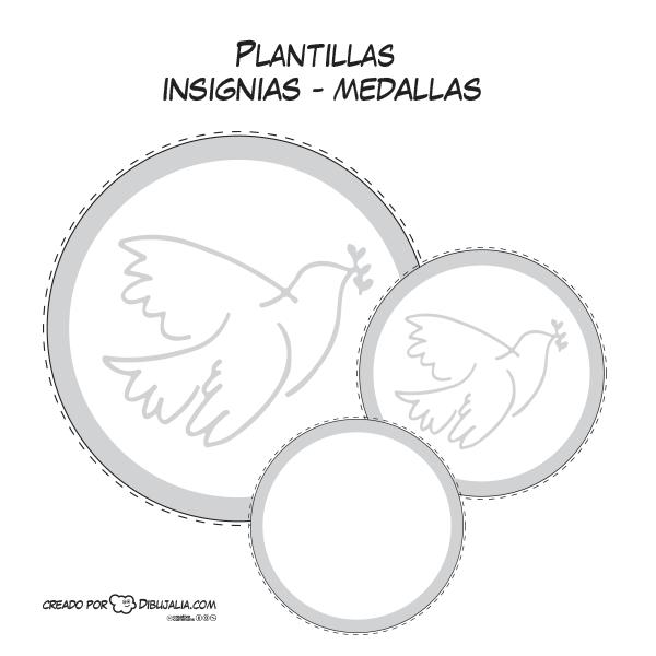 Medallas O Insignias Con La Palabra Paz En Varios Idiomas Paz Insignias Medallas