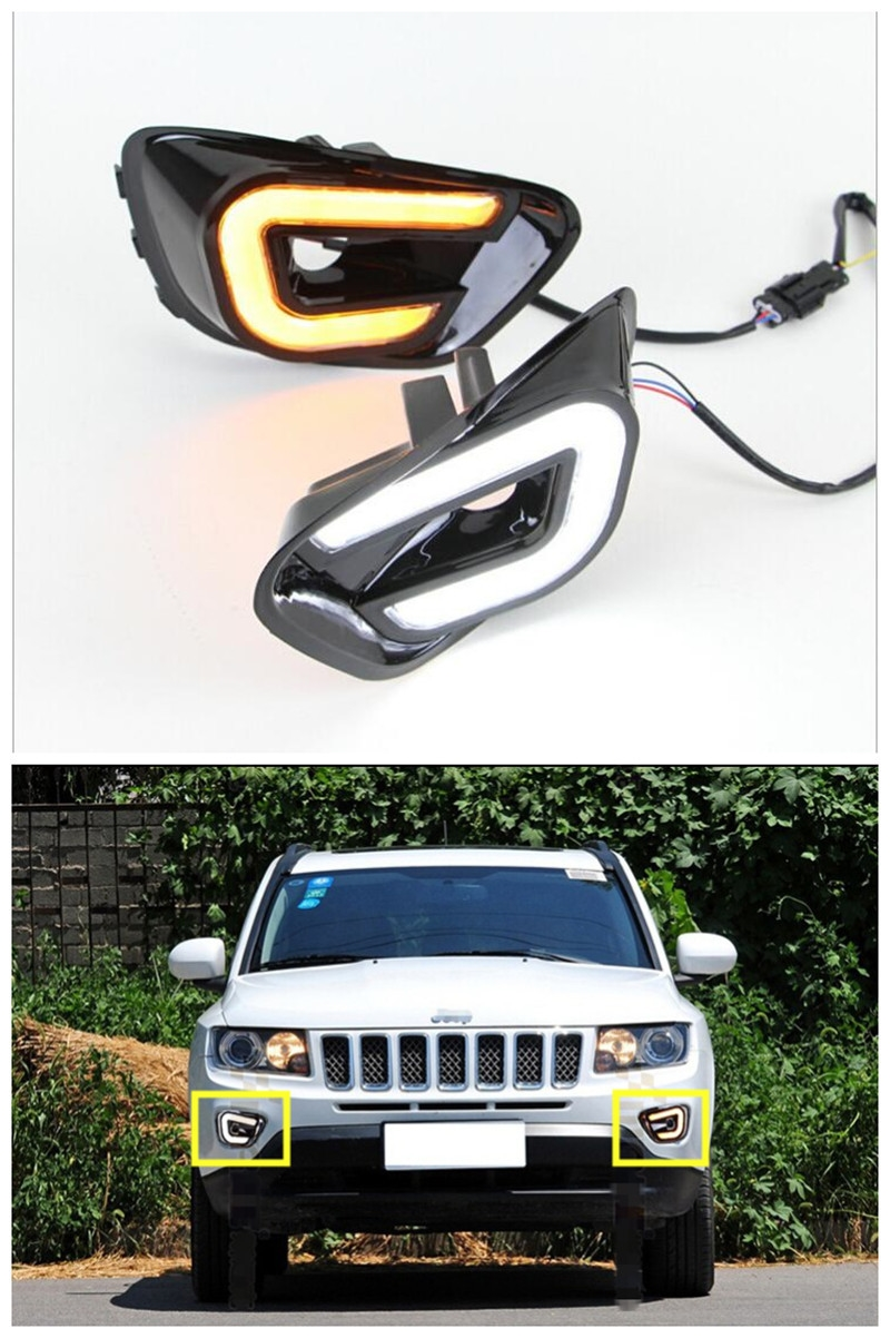 91 40 Buy Now Http Alilld Worldwells Pw Go Php T 32780700048 With Turn Signal Function 12v Car Led Daytime R Jeep Compass Jeep Jeep Compass Accessories