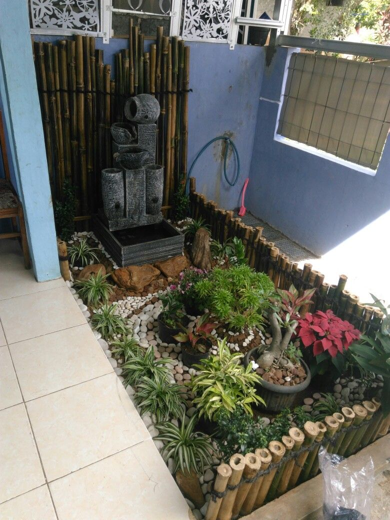 Taman Kecil Teras Rumah Taman Kecil Kolam Kecil Taman Indah