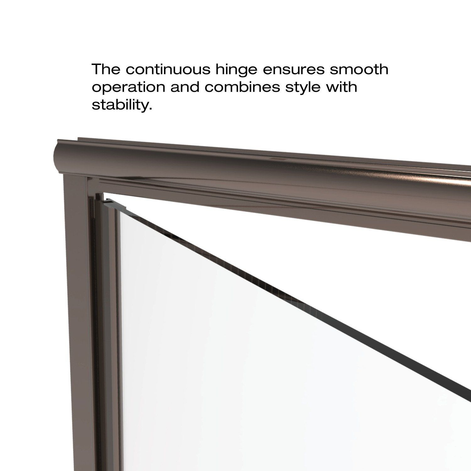 Basco Infinity Shower Door Fits 57 58 Inch Opening Aquaglidexp Clear