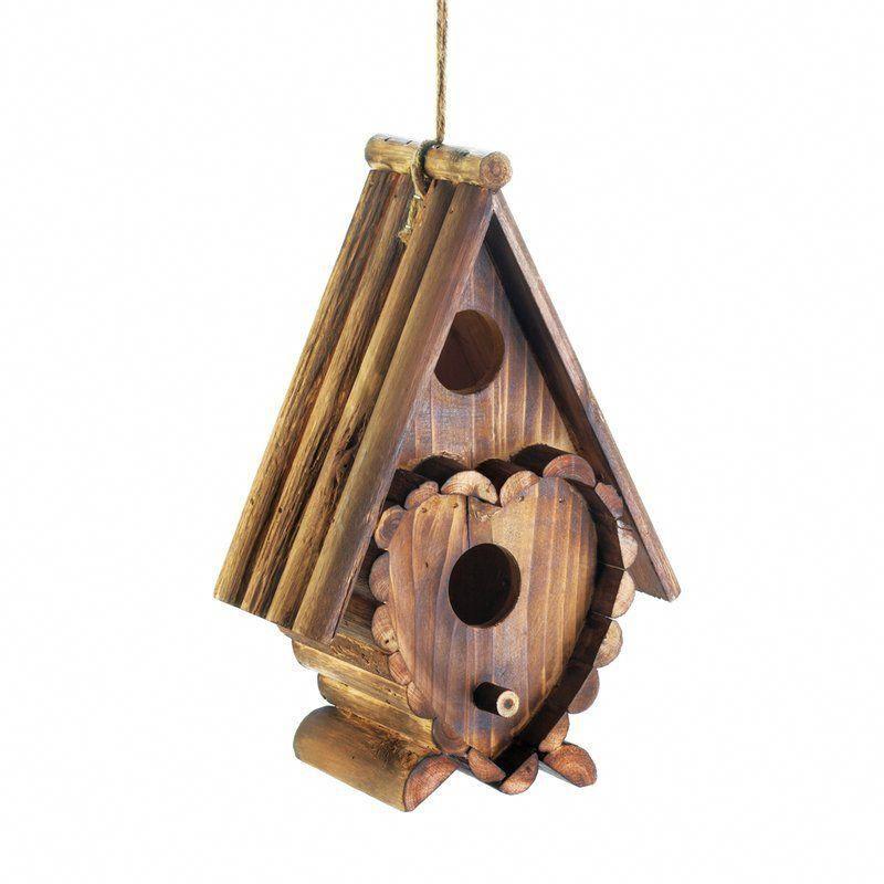 Heart 10 In X 7 In X 4 In Birdhouse Buildaviary Wooden Bird Houses Bird House Bird House Kits