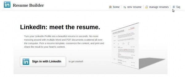 Crea un currículum con los datos de tu cuenta de LinkedIn - resume builder from linkedin