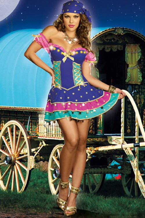 multicolor queen of the gypsies costumeexotic costumes halloween costumes costumes exotic - Exotic Halloween Costume