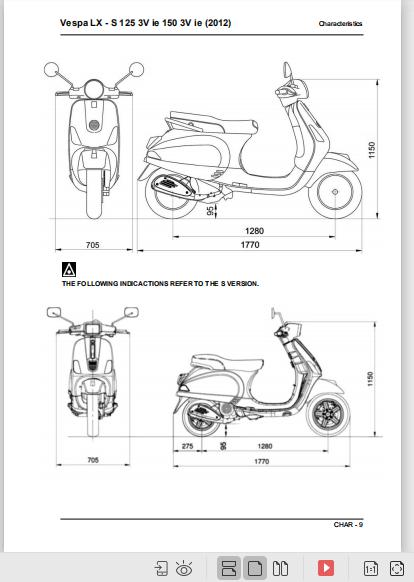 Vespa Lx S 125 3v Ie Shop Manual 2012 2015 Pdf Download Vespa Lx Manual Vespa