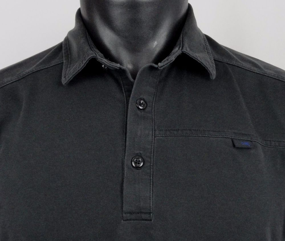 Arcteryx Captive Polo Shirt Mens Medium Stretch Dark Gray Ss
