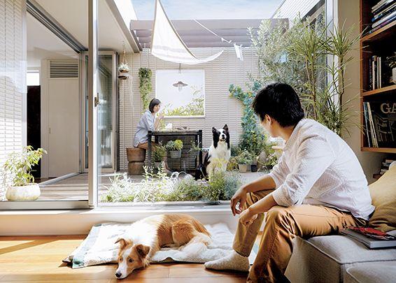 ペットと暮らす ヘーベルハウス 実例 くらし方 商品 屋外リビングスペース 家 インテリア 収納